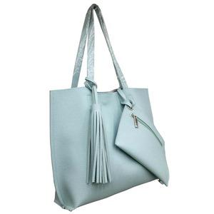 くったり柔らかい♪ビジネスにも普段使いにも使える持ち手長めのトートバッグ/ブルー h02