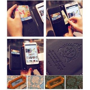 MrH(ミスターエイチ)スマホウォレットケース/アンティークムードピンクオレンジByiphone7plus h03