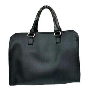 ビジネスシーンで使える♪パカっと開くフルランドファスナーハンドバッグ/ブラック h01
