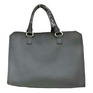 ビジネスシーンで使える♪パカっと開くフルランドファスナーハンドバッグ/グレイ h01