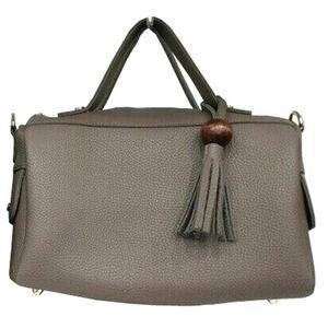 サイドポケット付!柔らか素材のボストン型2Wayハンドバッグ/エトフ h01