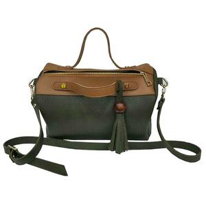 サイドポケット付!柔らか素材のボストン型2Wayハンドバッグ/エトフ f04