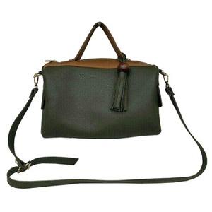サイドポケット付!柔らか素材のボストン型2Wayハンドバッグ/ブラック h03