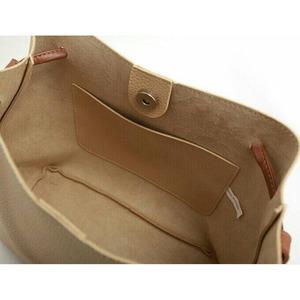 フリンジ付♪パカッと大きく開く細めストラップが上品な2Wayハンドバッグ/ミント