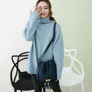 韓国で人気デザイン♪大人可愛いワンショルダーバッグ/グレイ