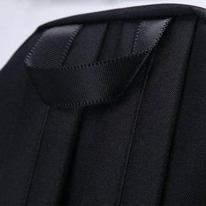 刺繍がアクセント♪前ポケット付軽量ラウンドリュック/フラミンゴブラック f04