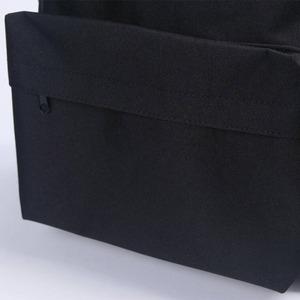 刺繍がアクセント♪前ポケット付軽量ラウンドリュック/フラミンゴブラック f05