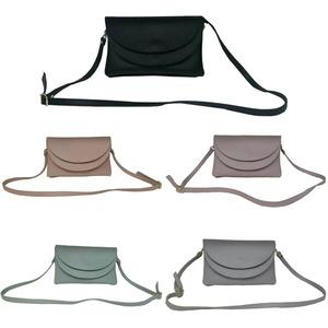 柔らか素材♪整理しやすい2段式ショルダーバッグ/グレイ