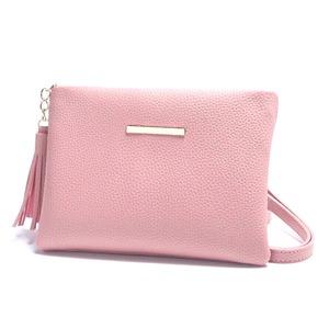 カラフル全13色♪ポーチスタイルのクラッチ&ショルダーバッグ/ピンク