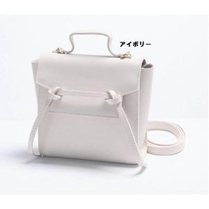 2Way変わったデザインの上品なミニハンドバッグ/アイボリー - 拡大画像