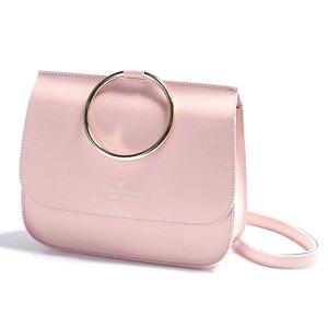 人気リングデザイン♪クラッチ、ショルダー、ハンドで使える3Wayバッグ/ピンク