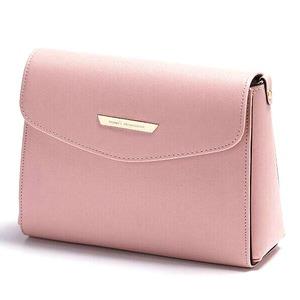 全7色♪上品サイズのシンプルスクエアショルダーバッグ/ピンク h01