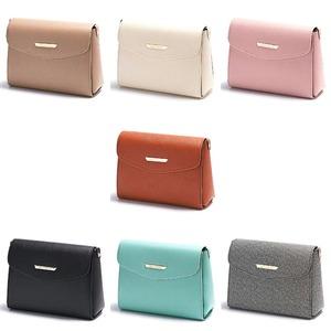 全7色♪上品サイズのシンプルスクエアショルダーバッグ/ピンク f06