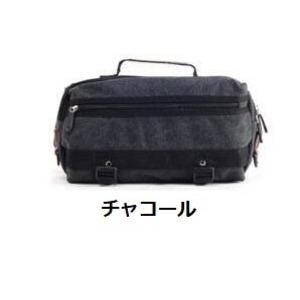 登山やジョギングにも使えるアウトドアカラーのボディバッグ/チャコール h01