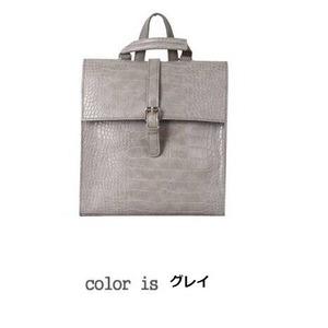 全8色コンパクトサイズ♪カッチリした印象のフタ付リュック/グレイ h01