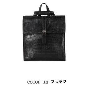 全8色コンパクトサイズ♪カッチリした印象のフタ付リュック/ブラック h01