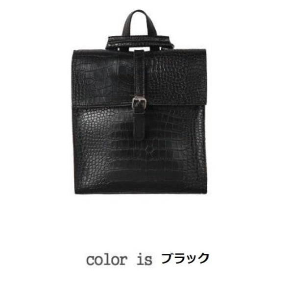 全8色コンパクトサイズ♪カッチリした印象のフタ付リュック/ブラックf00