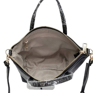 くったり柔らかい♪上質素材のファスナー付2Wayトートバッグ/ネイビー h03