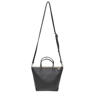 くったり柔らかい♪上質素材のファスナー付2Wayトートバッグ/グレイ h01