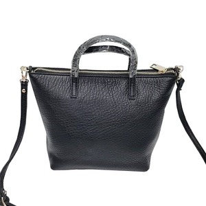 くったり柔らかい♪上質素材のファスナー付2Wayトートバッグ/グレイ h02
