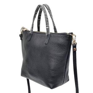 くったり柔らかい♪上質素材のファスナー付2Wayトートバッグ/グレイ f05