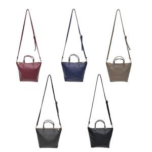 くったり柔らかい♪上質素材のファスナー付2Wayトートバッグ/グレイ f06