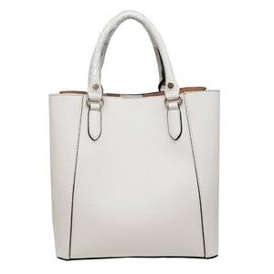 仕切ポケットがついたマチが広い柔らか素材の2Wayハンドバッグ/アイボリー h01