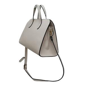 人気デザインを改良した仕切付上品仕上げのハンドバッグS/ネイビー f04