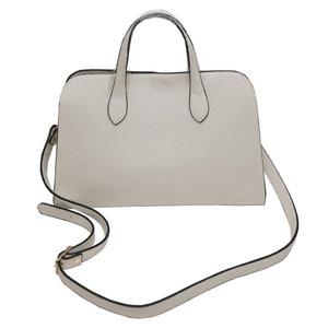 人気デザインを改良した仕切付上品仕上げのハンドバッグS/ブルー h02