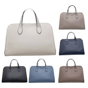 人気デザインを改良した仕切付上品仕上げのハンドバッグS/ブルー f05