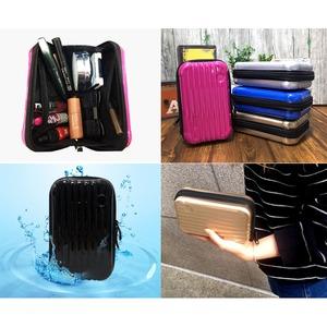 中身が潰れないスーツケース型ポーチ/ピンク