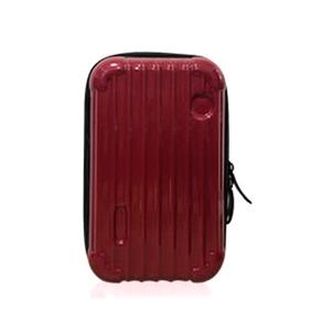 中身が潰れないスーツケース型ポーチ/ワイン