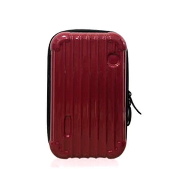 中身が潰れないスーツケース型ポーチ/ワインf00