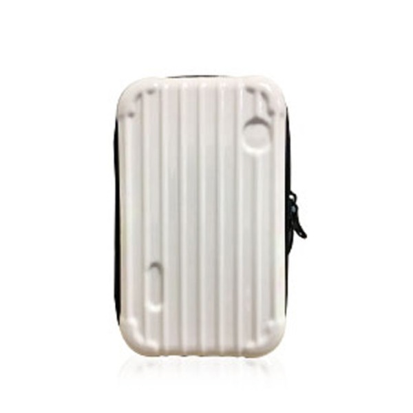 中身が潰れないスーツケース型ポーチ/アイボリーf00