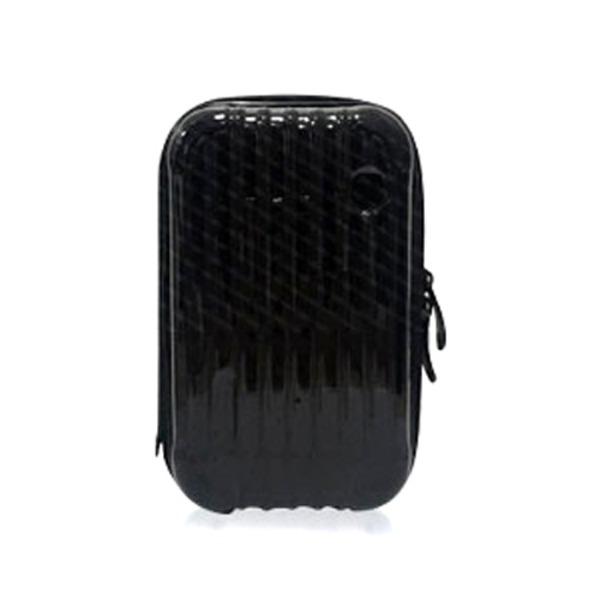 中身が潰れないスーツケース型ポーチ/ブラックf00