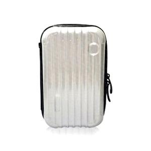 中身が潰れないスーツケース型ポーチ/シルバー h01
