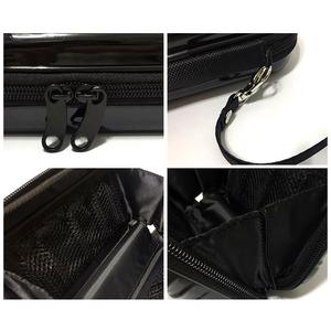 中身が潰れないスーツケース型ポーチ/シルバー f05