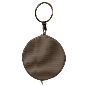 リングが持ち手の丸いショルダーバッグにもなるハンドバッグ/ベージュ h01