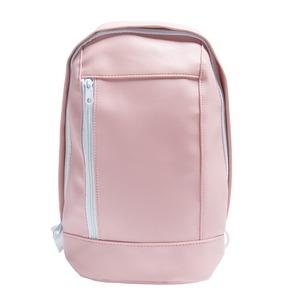 女性らしい丸いフォルムのボディバッグ/ピンク h01