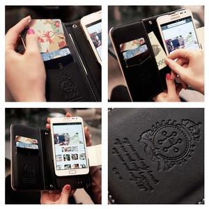 MrH(ミスターエイチ)スマホウォレットケース/マドモアゼルグレイByiphone6s(チェーン付)
