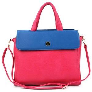 シンプル♪カラーがポイントの2Wayハンドバッグ/ピンク