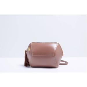 コロンと可愛い♪変わったデザインのミニショルダーバッグ/ピンク