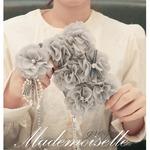 MrH(ミスターエイチ)スマホウォレットケース/マドモアゼルグレイByiphone8(チェーン付)