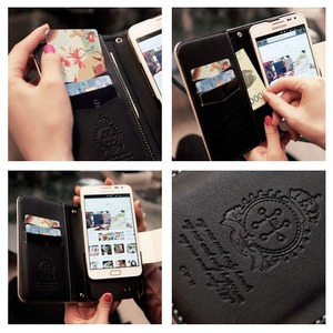 MrH(ミスターエイチ)スマホウォレットケース/ファーバー iphoneX/XS