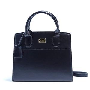 2Wayキレイ色の上品なミニハンドバッグ/ブラック