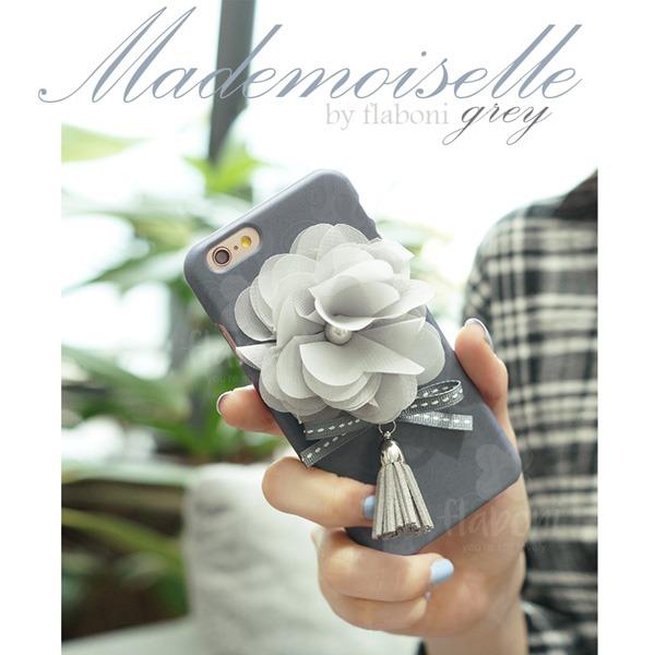 MrH(ミスターエイチ)スマホスキニーケース/マドモアゼル(グレイ)ByGalaxyS8plus