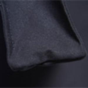 可愛いプリント入♪ハンドル長めの縦長モノトーントートバッグ(マチ付)/ブラック