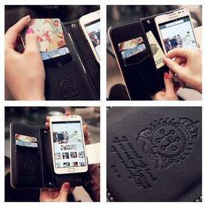 MrH(ミスターエイチ)スマホウォレットケース/オリエンタルポップビューティーゴールドByiphone8plus