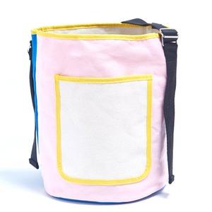 アウトドアにも旅行にもエコバッグとしても使える筒形バッグ/ピンク