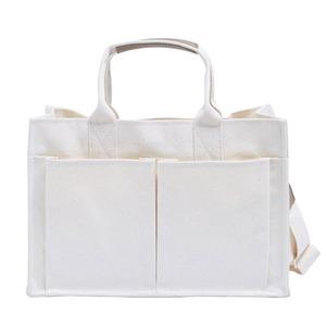 使いやすいアイボリーのシンプルトートバッグ